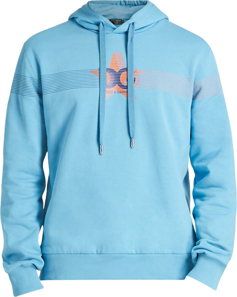 Dolce And Gabbana Light Blue Hoodie