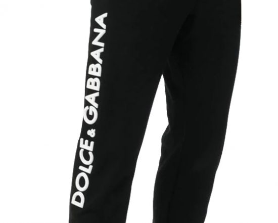 Dolce And Gabbana Logo Plaque Joggers Worn By Rick Ross In Instagram Post