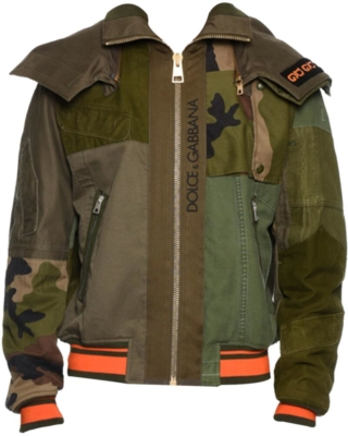 Dolce And Gabbana Military Patch Jacket