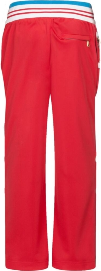 Dolce And Gabbana Red And Blue Pinrted Sweatpants