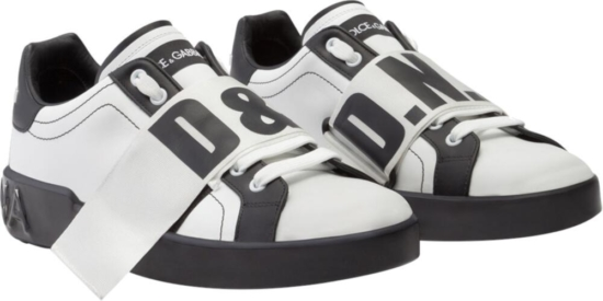 Dolce And Gabbana White D And G Sneakers
