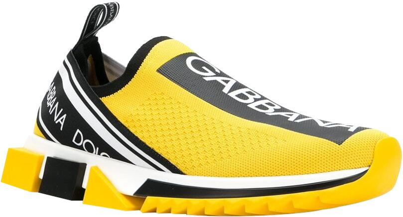 Dolce And Gabbana Yellow Sorrention Sneakers