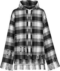 Dolce Gabbana Tartan Wool Hoodie With Dg Logo