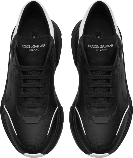 Dolce Gabbana Black And White Daymaster Sneakers