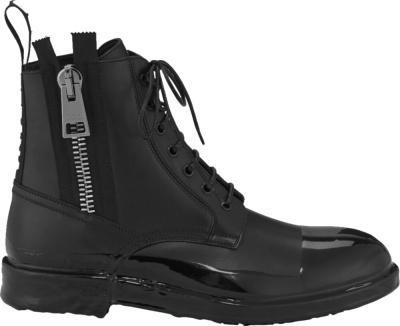 Dolce Gabbana Black Drip Combat Boots