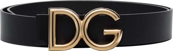 Dolce Gabbana Black Gold Dg Belt