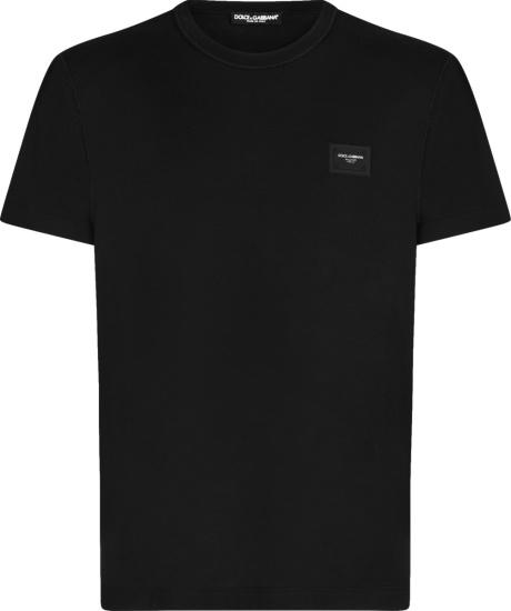 Dolce Gabbana Black Logo Patch T Shirt G8kj9tfu7eqn0000