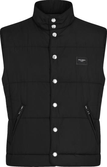 Dolce Gabbana Black Padded Puffer Vest