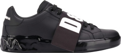 Dolce Gabbana Black Portofino Melt Sneakers