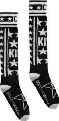 Dolce Gabbana Black White Star Socks
