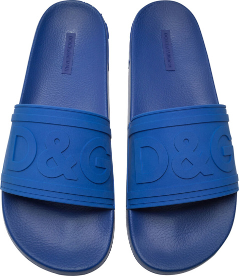 Dolce Gabbana Blue Pool Slides