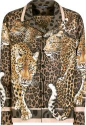 Dolce Gabbana Brown Leopards Print Silk Shirt
