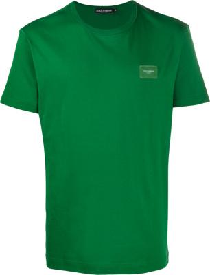 Dolce & Gabbana Logo Plate Green T Shirt