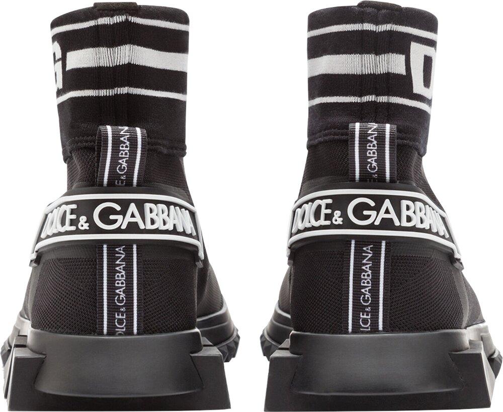 Dolce Gabbana Logo Print Black Sock Sneakers