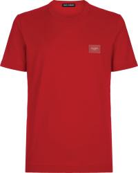 Red Logo Plaque T-Shirt