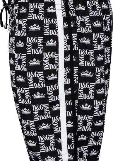 Dolce Gabbana Side Stripe Black White Shorts