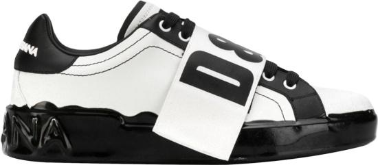 Dolce Gabbana White Black Portofino Melt Sneakers