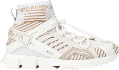 Dolce Gabbana White High Top Sorrentino Trekking Sneakers