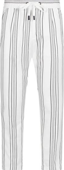 Dolce Gabbana White Striped Jogging Pants Gyu6etfrrdfs8051