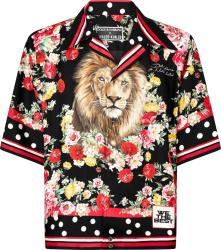 Dolce Gabbana X Dj Khaled Black And Multicolor Lion Print Shirt