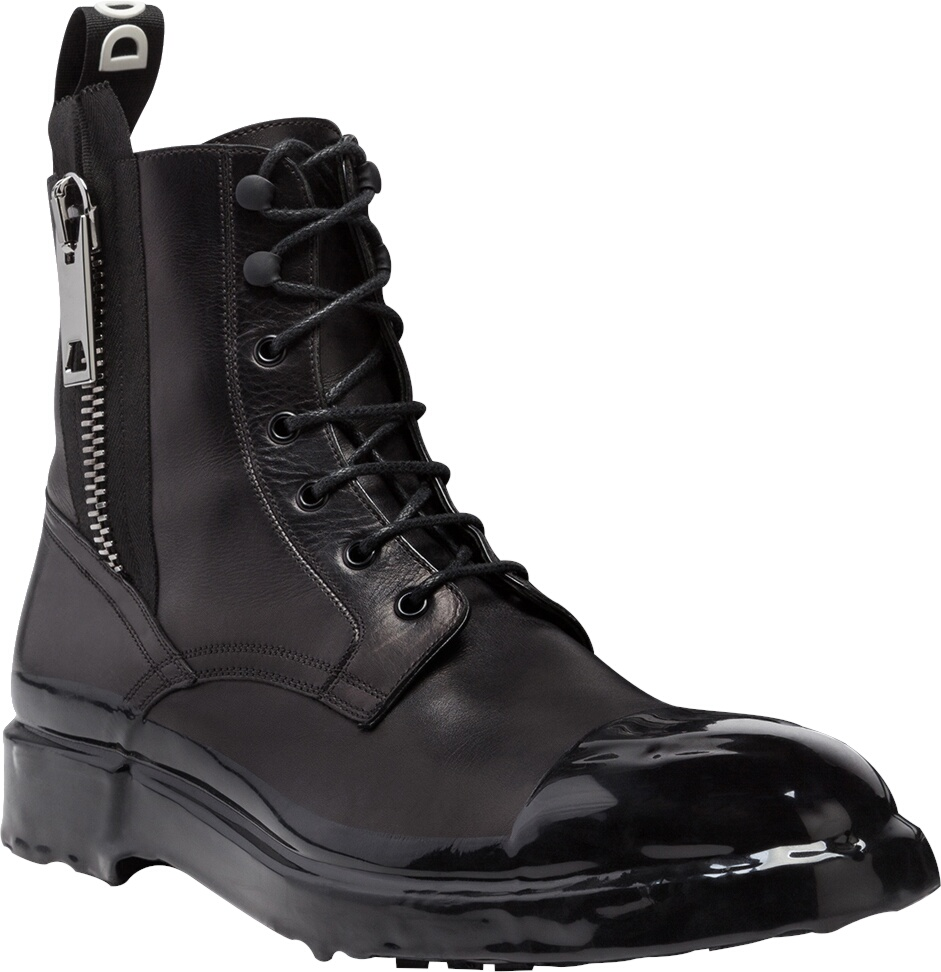 Dolge Gabbana Black Combat Boots