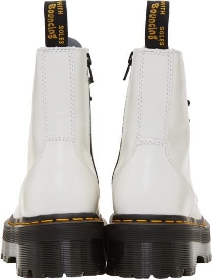 Dr Martens White Jadon Zip Boots