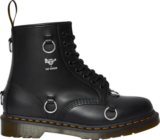 Dr Martens X Raf Simons Black Ring Boots