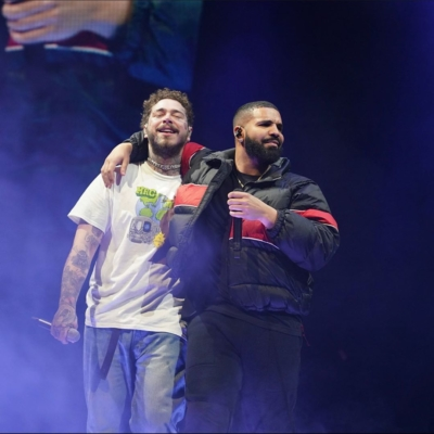 Drake On Stage With Post Malone For Toronto Show