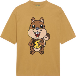Drew House Brown Squirel Print T Shirt