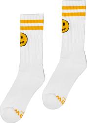 Drew House White Yellow Mascot Socks
