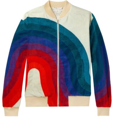 Dries Van Noten Wave Printed Bomber Jacket