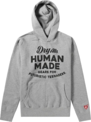 Human Made × Nigo 'Futuristic Teenagers' Grey Hoodie