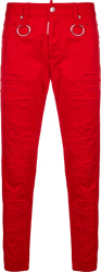 Dsauared2 Red Skinny Dan Jeans