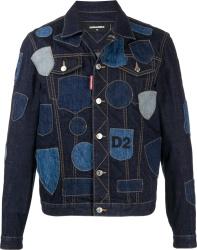 Dsquared2 Blue Dneim Patchwork Trucket Jacket