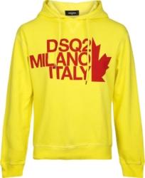 Dsquared2 Milano Print Yellow Hoodie