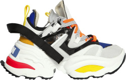 Dsquared2 White Multicolor The Giant Sneakers