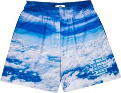 Eric Emanuel Blue White Clouds Print Shorts