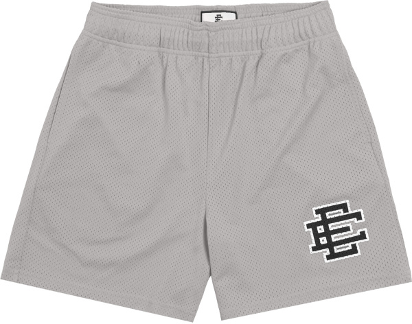 Eric Emanuel Grey And Black Ee Logo Shorts