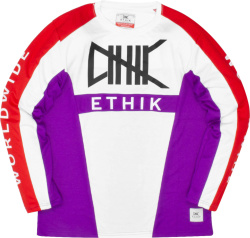 Ethik Worldwide White Purple And Red Motocross Jersey