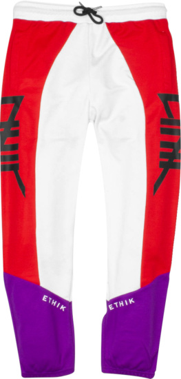 Ethik Worldwide White Purple And Red Motocross Pants