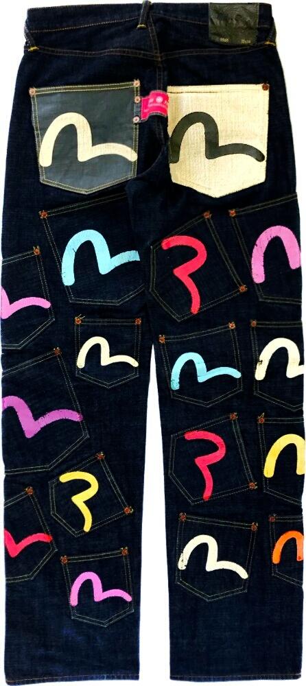 Evisu Multiback Pocket Jeans