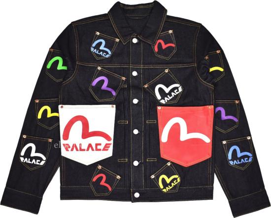 Evisu X Palace Allover Pocket Denim Jacket