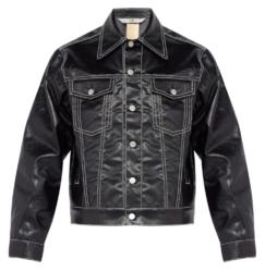 Eytys Black Jacket With White Stitching Bucktar