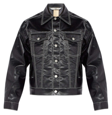 Eytys Black Jacket With White Stitching Bucktar