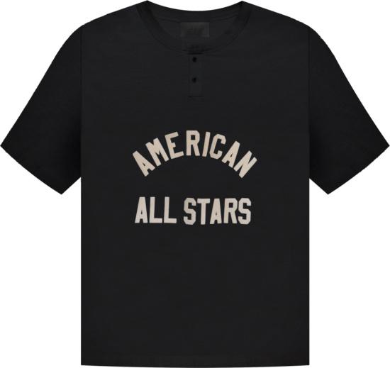 Fear Of God Black American All Stars T Shirt