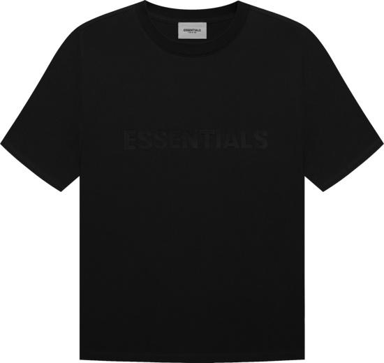 Fear Of God Black Essentials T Shirt