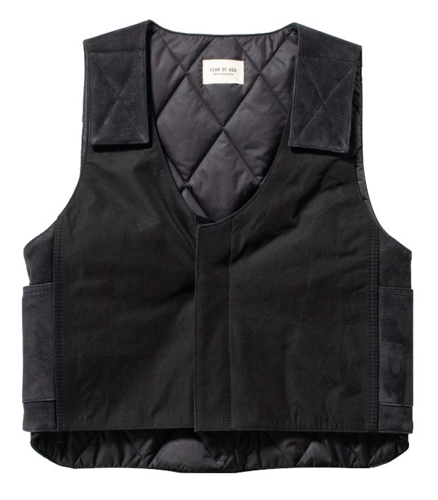 Fear Of God Black Vest Worn By Quavo