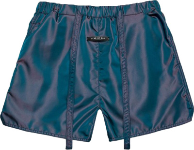 Fear Of God Blue Iridescent Military Training Shorts