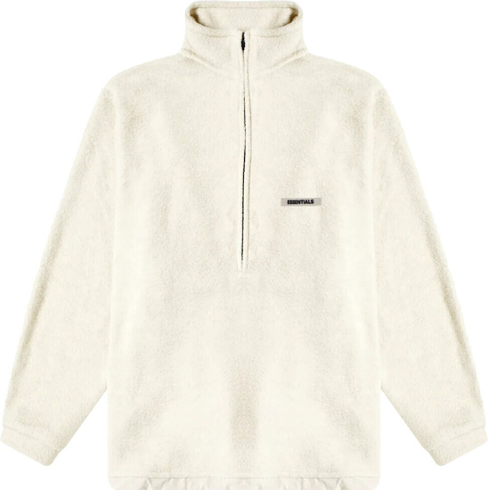 Fear Of God Essentials Ivory Fleece Quarter Zip