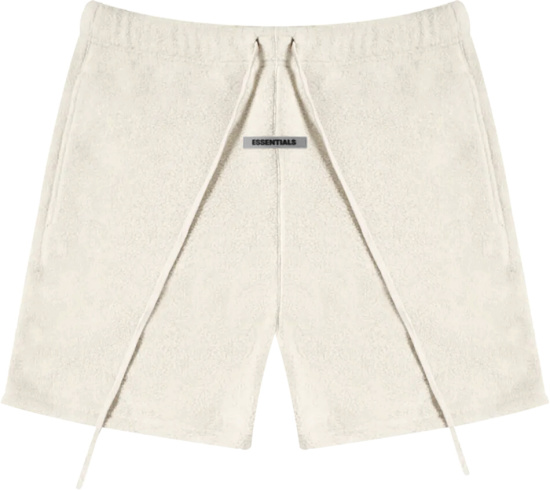 Fear Of God Essentials Ivory Fleece Shorts